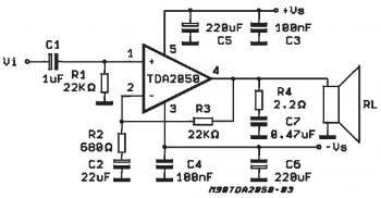 32w hifi audio amplifier circuit based tda2050 amplifier rh pinterest com