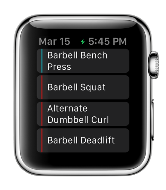 Apple Watch Fitlist Workout Log App, Fitness Tracker