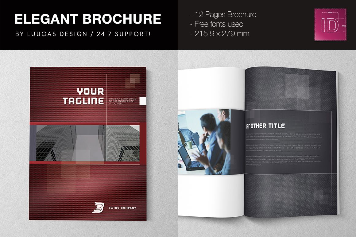 Elegant Brochure Template By Luuqas Design On Creative Market - Elegant brochure templates