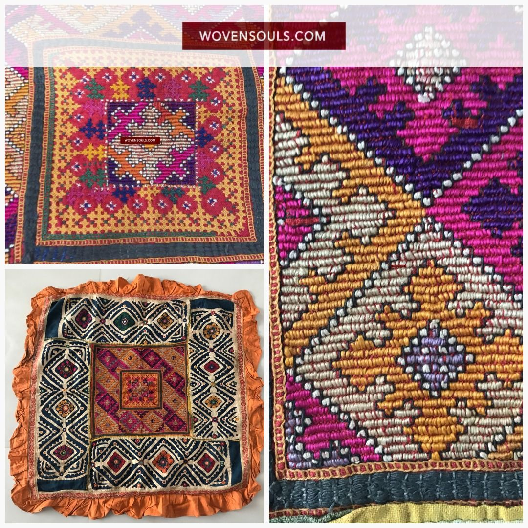 superb sindh pillow case with applique work fashion