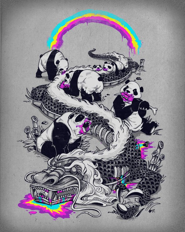 Merveilleux Pandas Make Rainbows Bleed Designed By Colinlepper