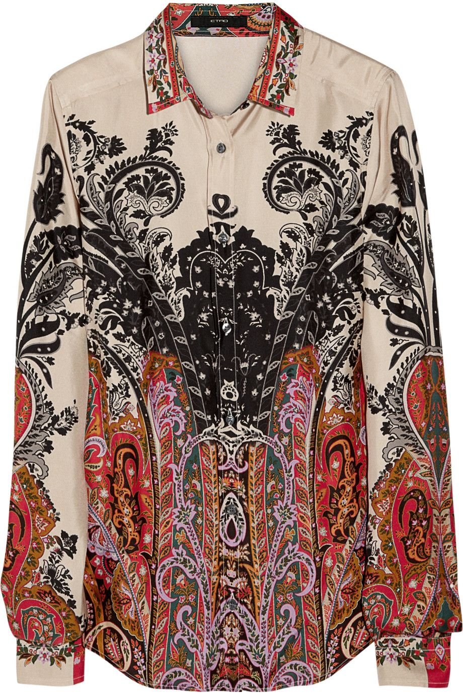 64661370cd8d41 Etro Silk Shirt $560 | I would totally wear this in 2019 | Shirts ...