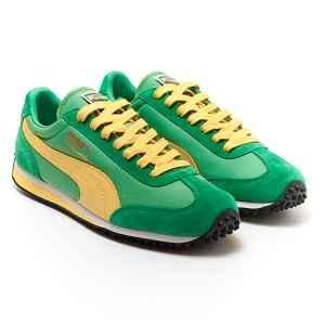 green and yellow puma shoes