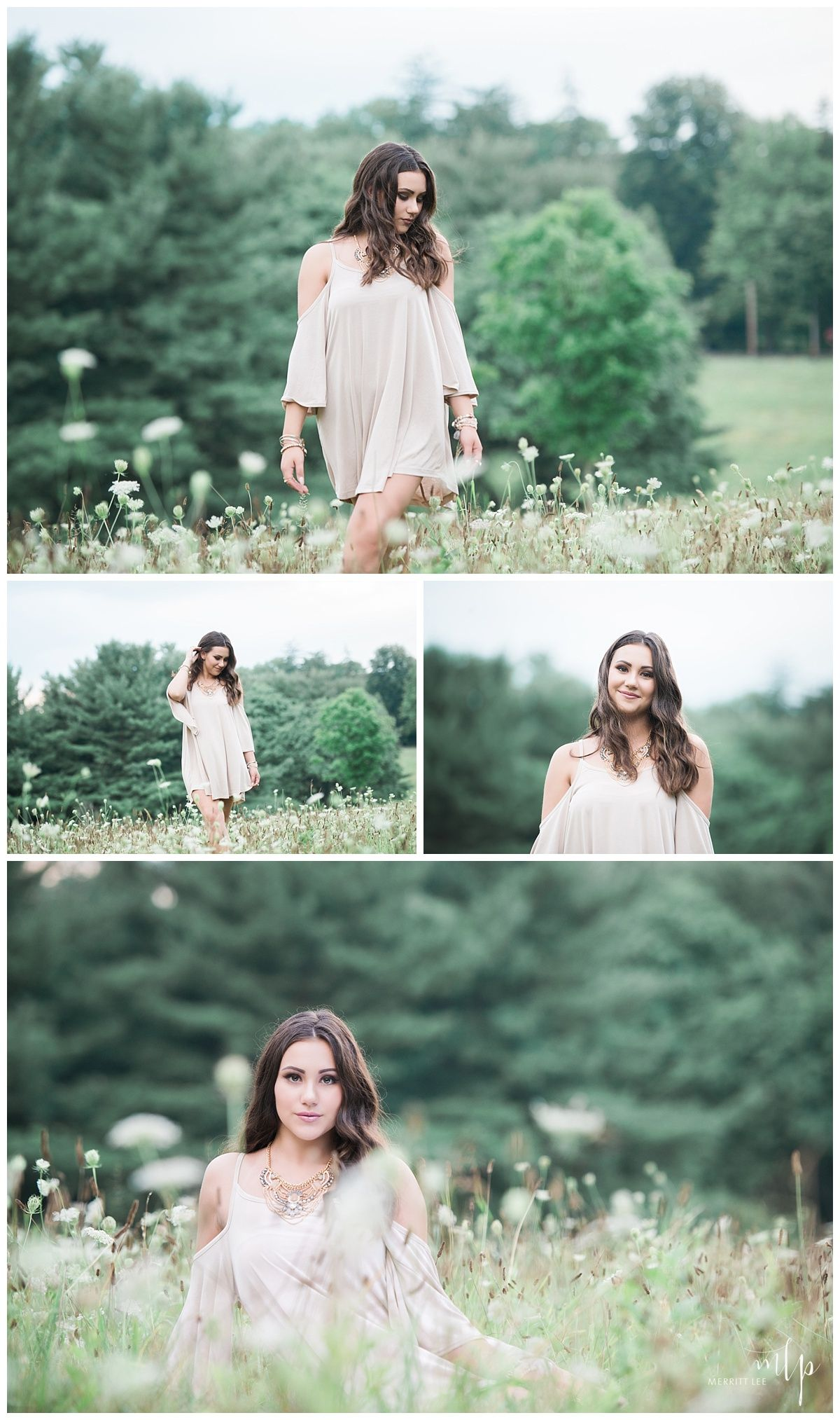 Outdoor Senior Pic Idea Styled Shoot - Hairstyle - Loose -9823