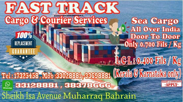 FAST TRACK CARGO ANNOUNCES SEA CARGO SPECIAL RATES TO ALL