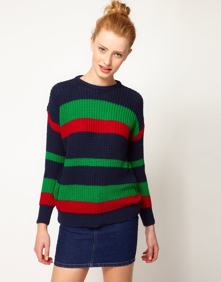 American Apparel I Striped Fisherman's Sweater | Sweater ...