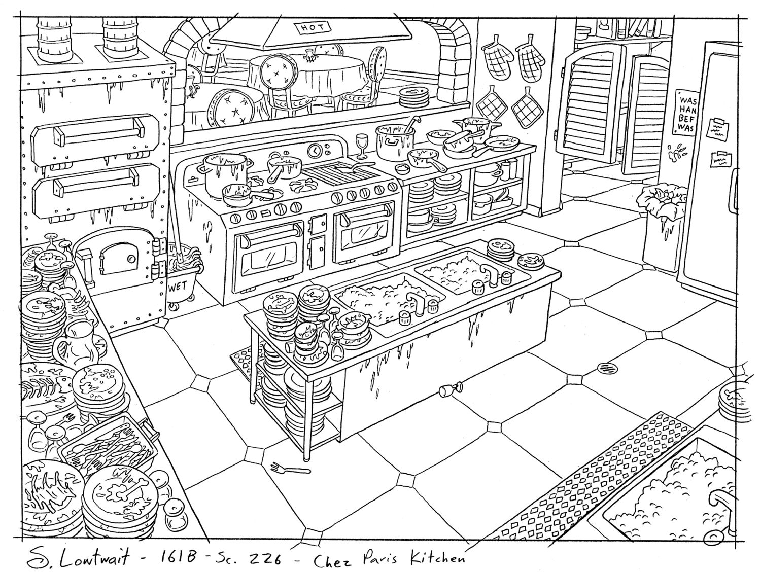 This Is The Kitchen Of The Restaurant From The Valentine S Day