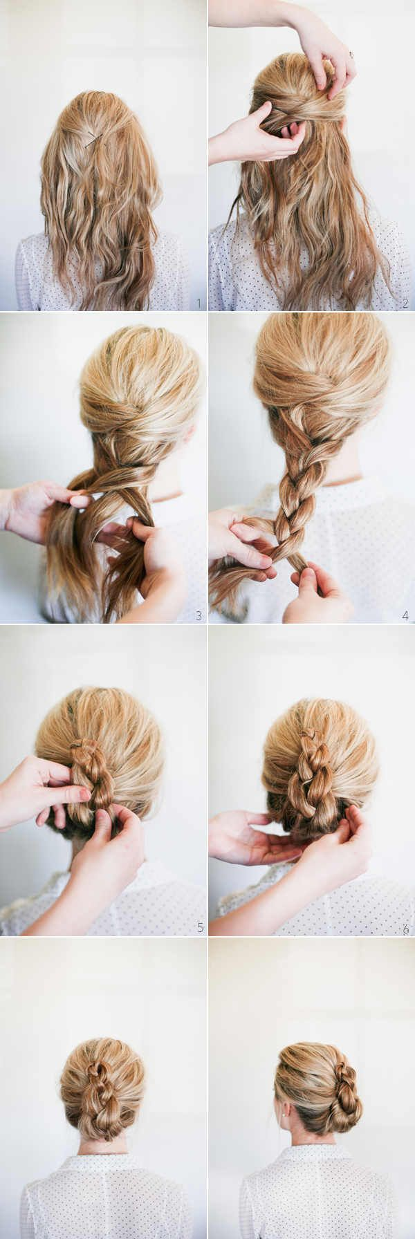 10 Easy, Feminine and Elegant Wedding Updo Hairstyles with Steps ...