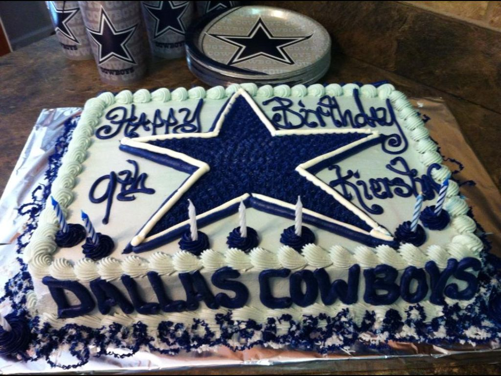 Dallas Cowboy Birthday Cake Toppers