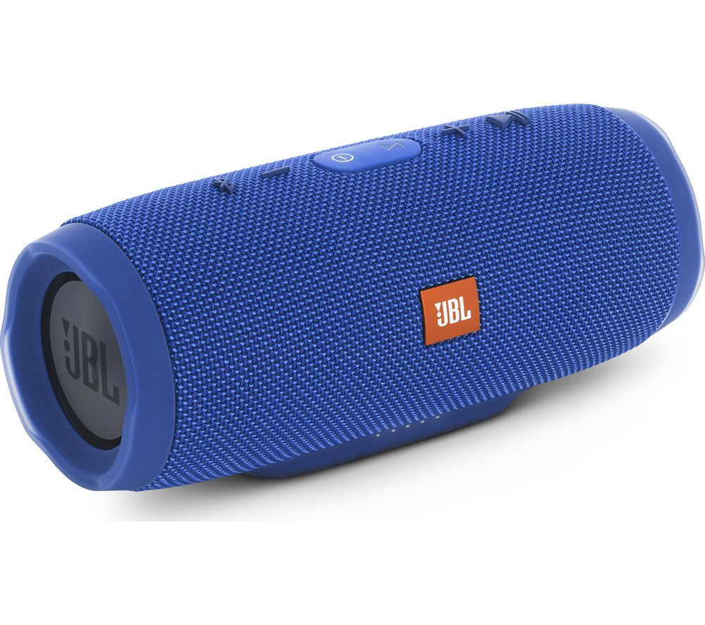 Jbl Charge 3 Portable Wireless Speaker Blue Blue Price 119 99 Top Features High Bluetooth Speakers Portable Cool Bluetooth Speakers Bluetooth Speaker