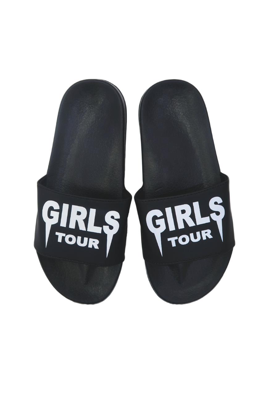 Girls Tour Slides - Black | Nice shoes