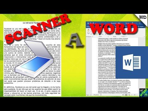 Truco Convierte Una Imagen Escaneada A Texto Word Sin Programas Youtube Textos Documento De Word Enseñar