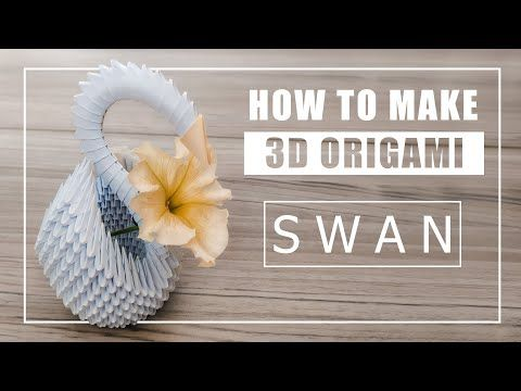 Photo of How to – 3D Origami Swan | DIY Paper Craft Tutorial