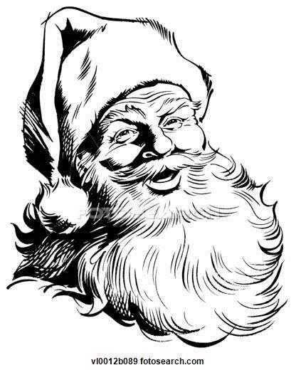 christmas santa drawings
