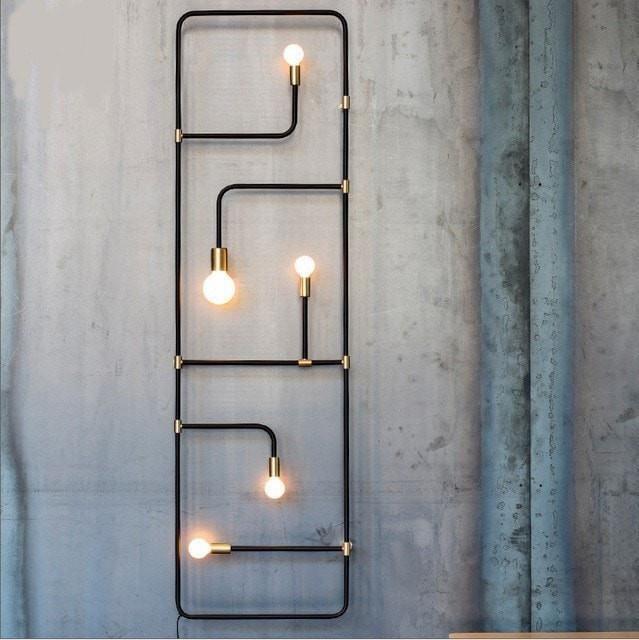 Style Black Iron Waterpipe Wall Lamp – #Black #ind… – #Black #Ind #industrial …