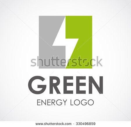Lightning Bolt Of Alternative Green Energy Abstract Vector And Logo
