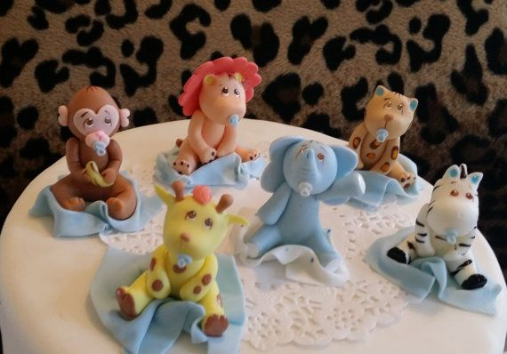 Beautiful Baby Animals Cake Toppers great baby shower or Birthdays party decoration set it can be used in different Cake Decorations, Centerpieces, Party favors, Guess table Decorations, in Safari, Farm and Jungle theme events All handmade of Cold porcelain Listing is for assorted animals as picture shown Listing is for 6 Pieces 6 Baby Animals of Approx 2. to 2.5 tall FOR OTHER BABY SHOWER, BAPTISM, BIRTHDAY, WEDDINGS OR FIRST COMMUNION FAVORS AND CAKE TOPPERS VISIT OUR SHOP…