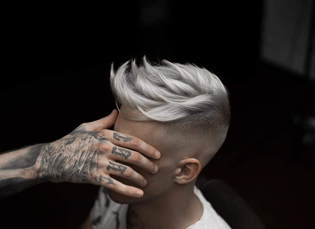 A hairstyle for short hair shaved on the sides and behind the head