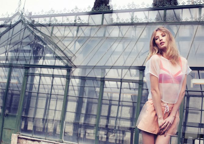 Glass house fashion editorial