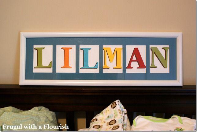 Diy Custom Nursery Name Art