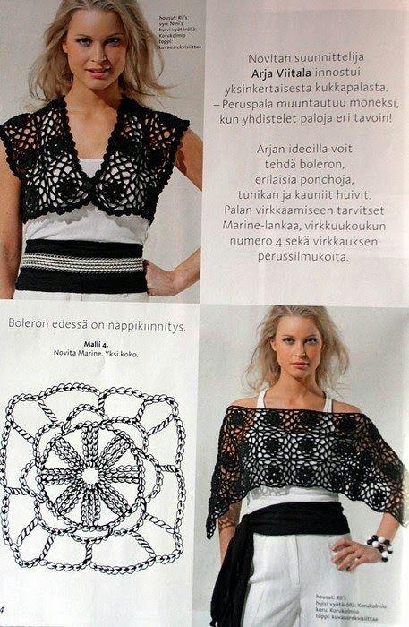 one motif - two things | Crochet | Pinterest | Blusas tejidas, Chal ...