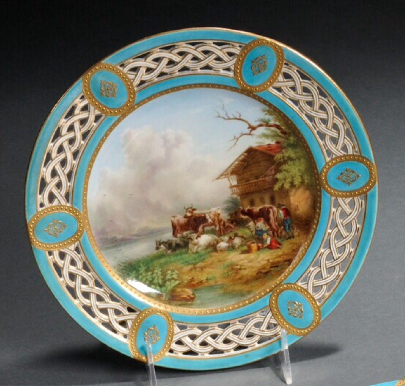 Minton Hand-painted Porcelain Plate