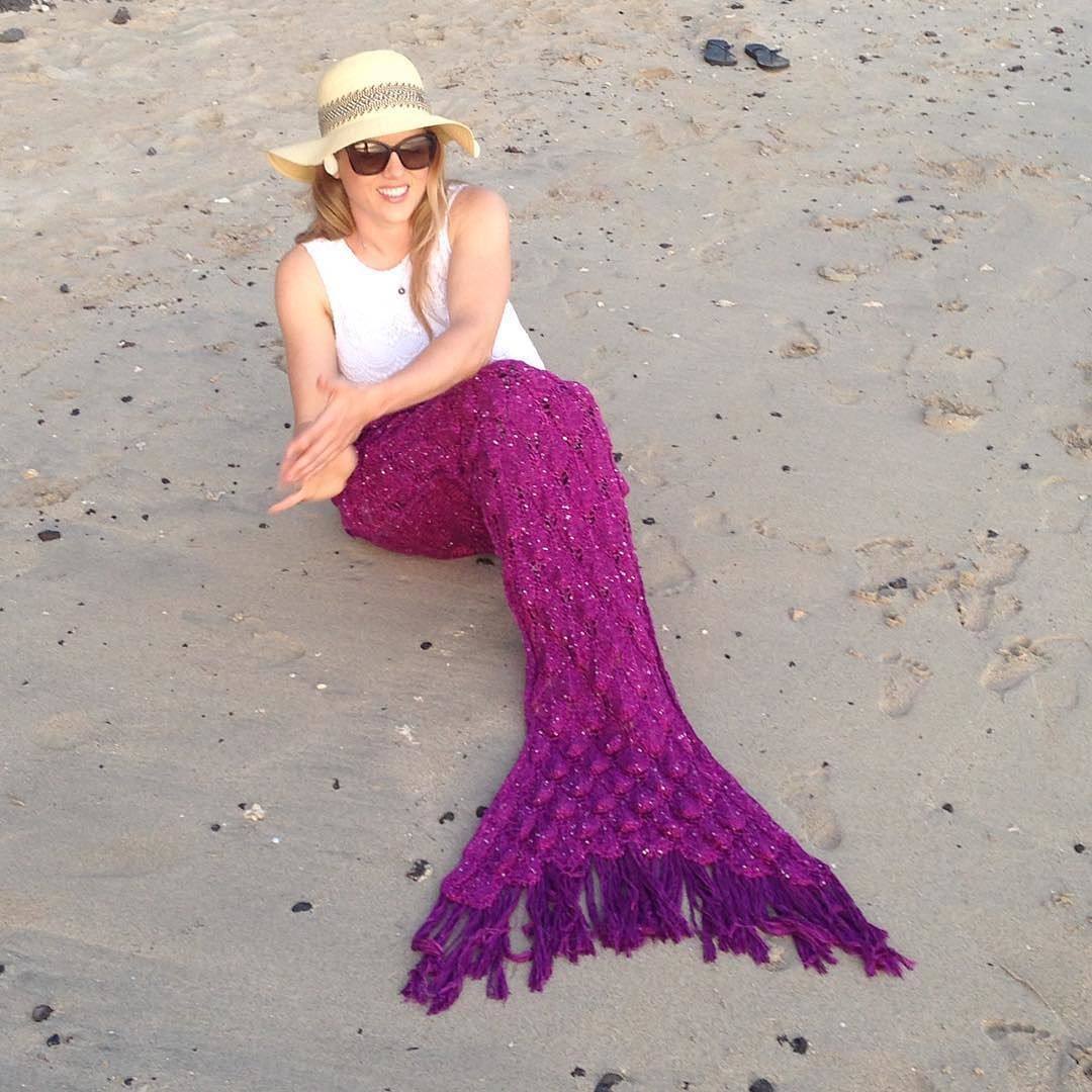 Done deal  There are only 5 garnet tails left and they will not be restocked this year (or perhaps again!) Grab this color now at seatailshop.com before they are gone for good! #mermaidtailblanket