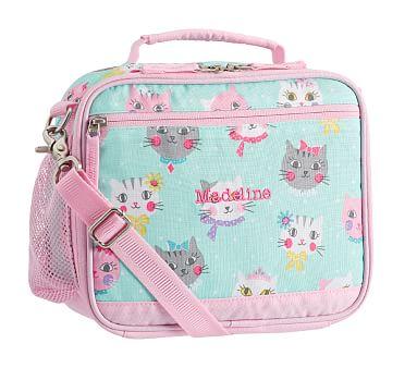 Mackenzie Aqua Pink Princess Kitty Lunch Boxes Reusable