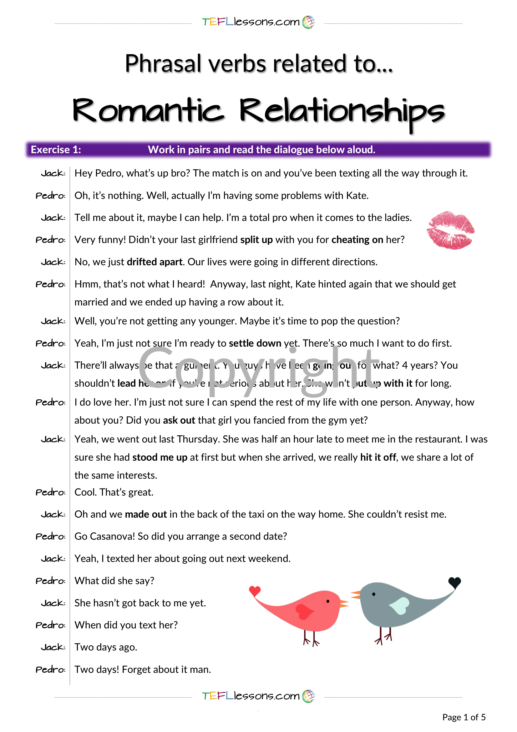 Relationships Phrasal Verbs Verbs Lessons Relationship Exercises Teacher Notes [ 2339 x 1653 Pixel ]