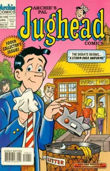 Riverdale High School Uniforms Crown Garbage Tear Jughead Comics Comics Archie Comic Books Despite being portrayed as having only. pinterest