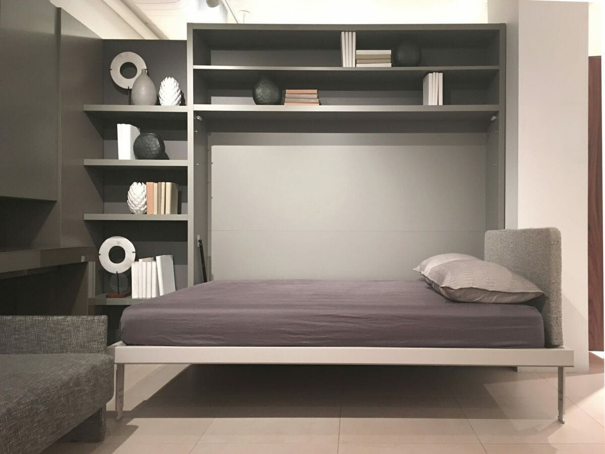 Circe Queen Wall Bed Shelves Space Saving Furniture Resource