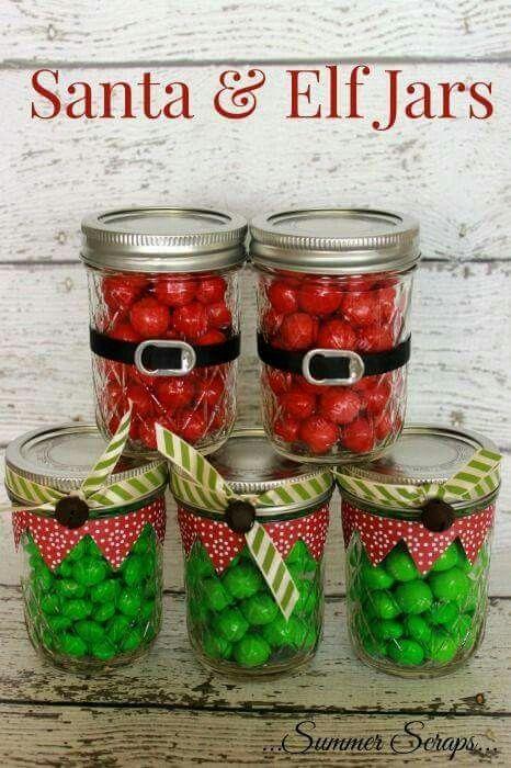 Lembrancinhas de natal Gifts Pinterest Jar, Christmas gifts