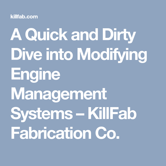 A Quick and Dirty Dive into Modifying Engine Management Systems ...