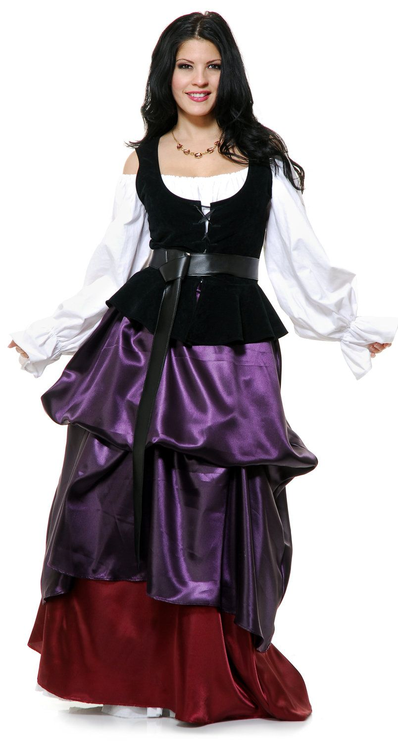 Medieval wench maiden adult costume