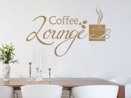 Wandtattoo #Küche Spruch Coffee Lounge #Kaffee Tasse ...