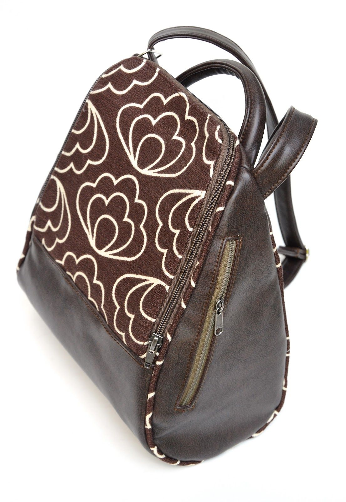Bag sewn by LiEr of Ikat Bag using vinyl and Time Warp barkcloth by ...