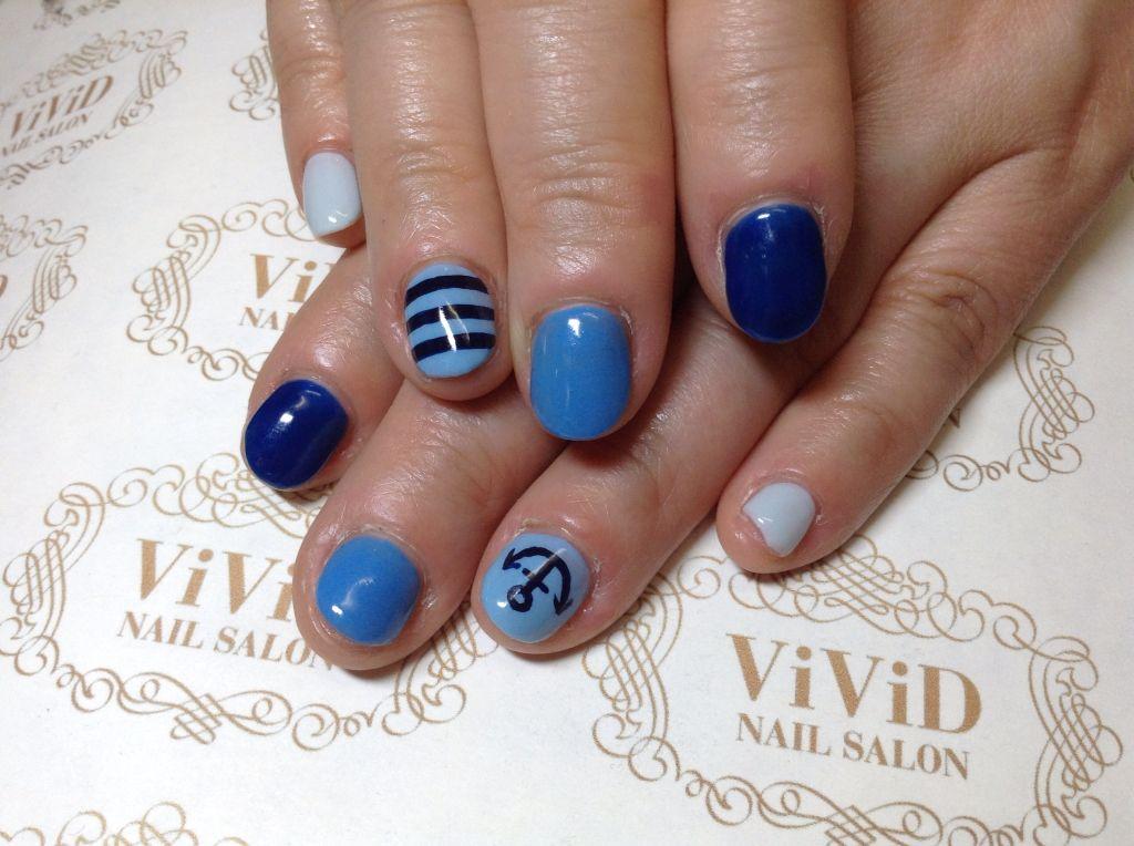 #vividnailsalonsydney#calgel#sydney#nail#nails#nailart#geldesign#art#nalisalon#gelnail#japanesenailart#ネイル#ネイっp#ジェルネイル#カルジェル#美甲#指甲#blue#marin##border