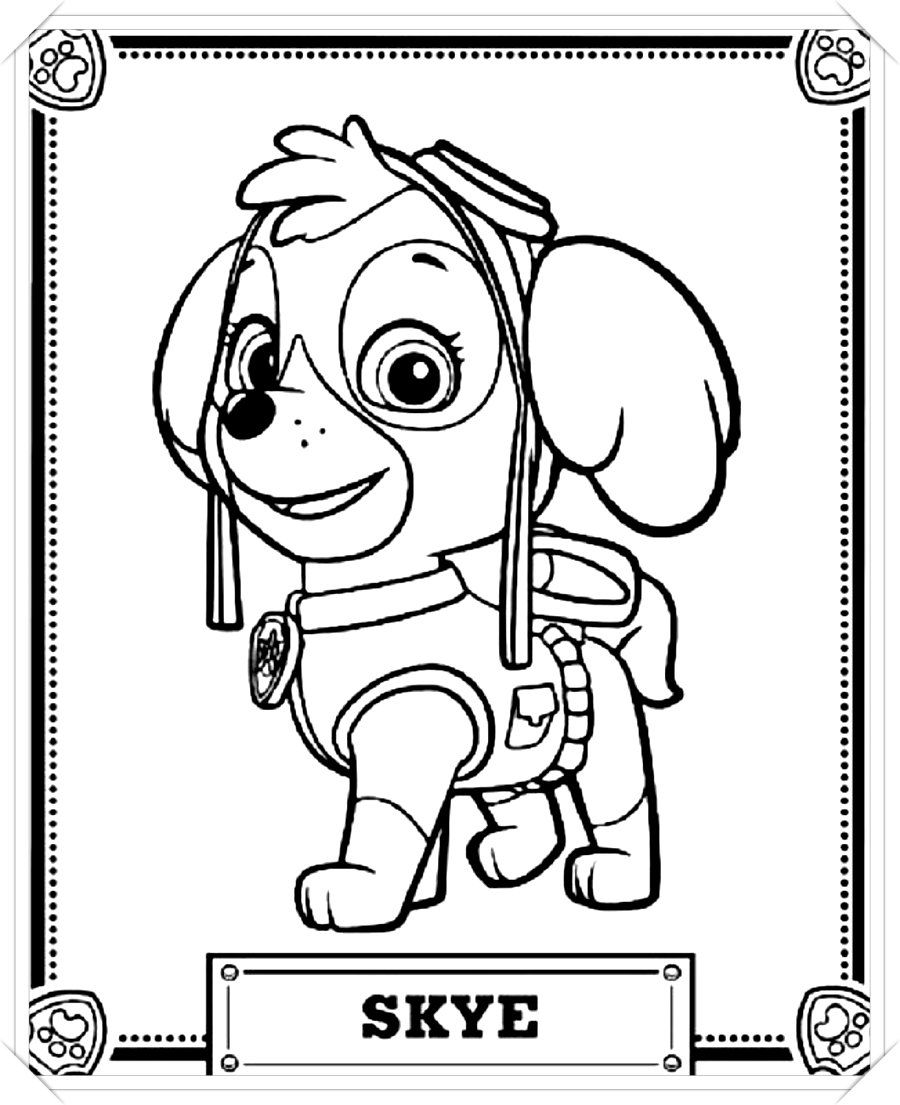 Patrulla Canina Para Colorear 150 Imagenes Para Imprimir Y Pintar