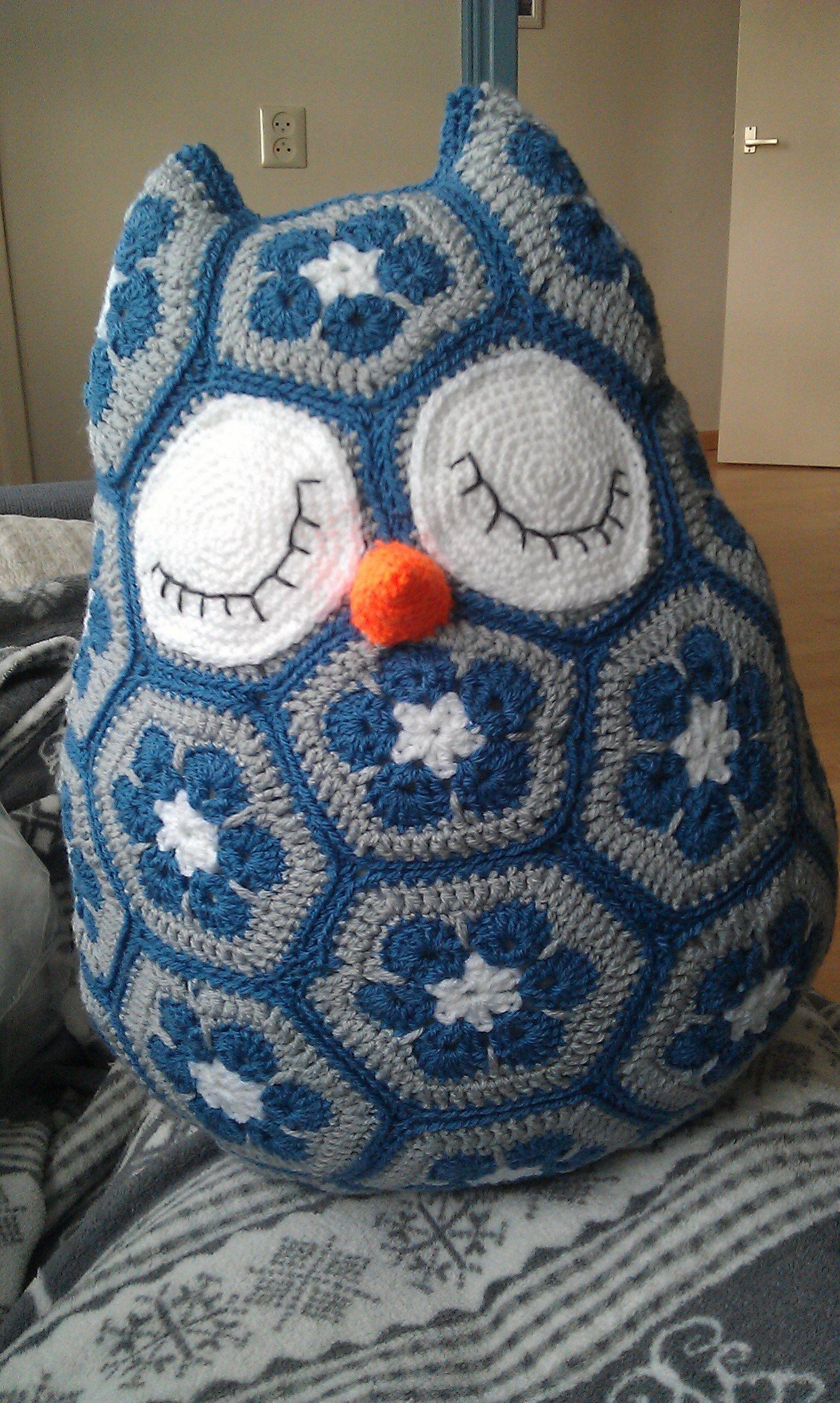 Maggie the African flower owl – finished! | Börse, Handarbeiten und ...