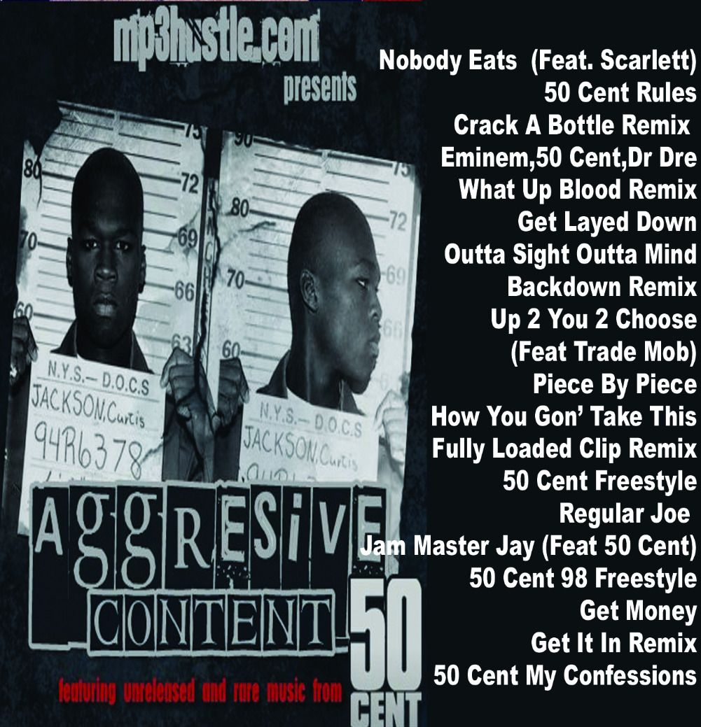 50 Cent - Aggresive Content MP3 Download for $2.00 #onselz