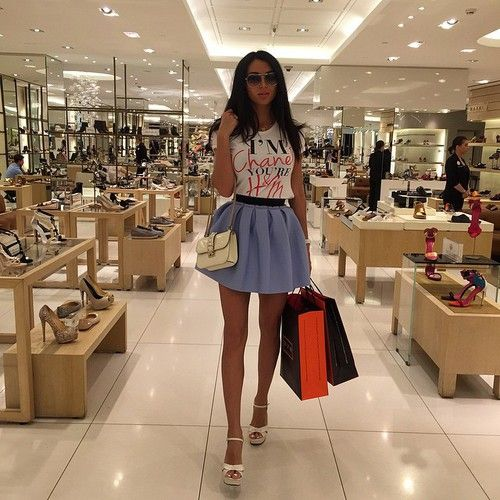 Girl Shopping In Mall Tumblr