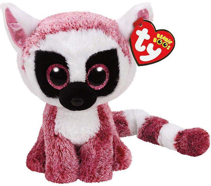 cebe2e8df01 Ty Leeann pink lemur beanie boo 15cm