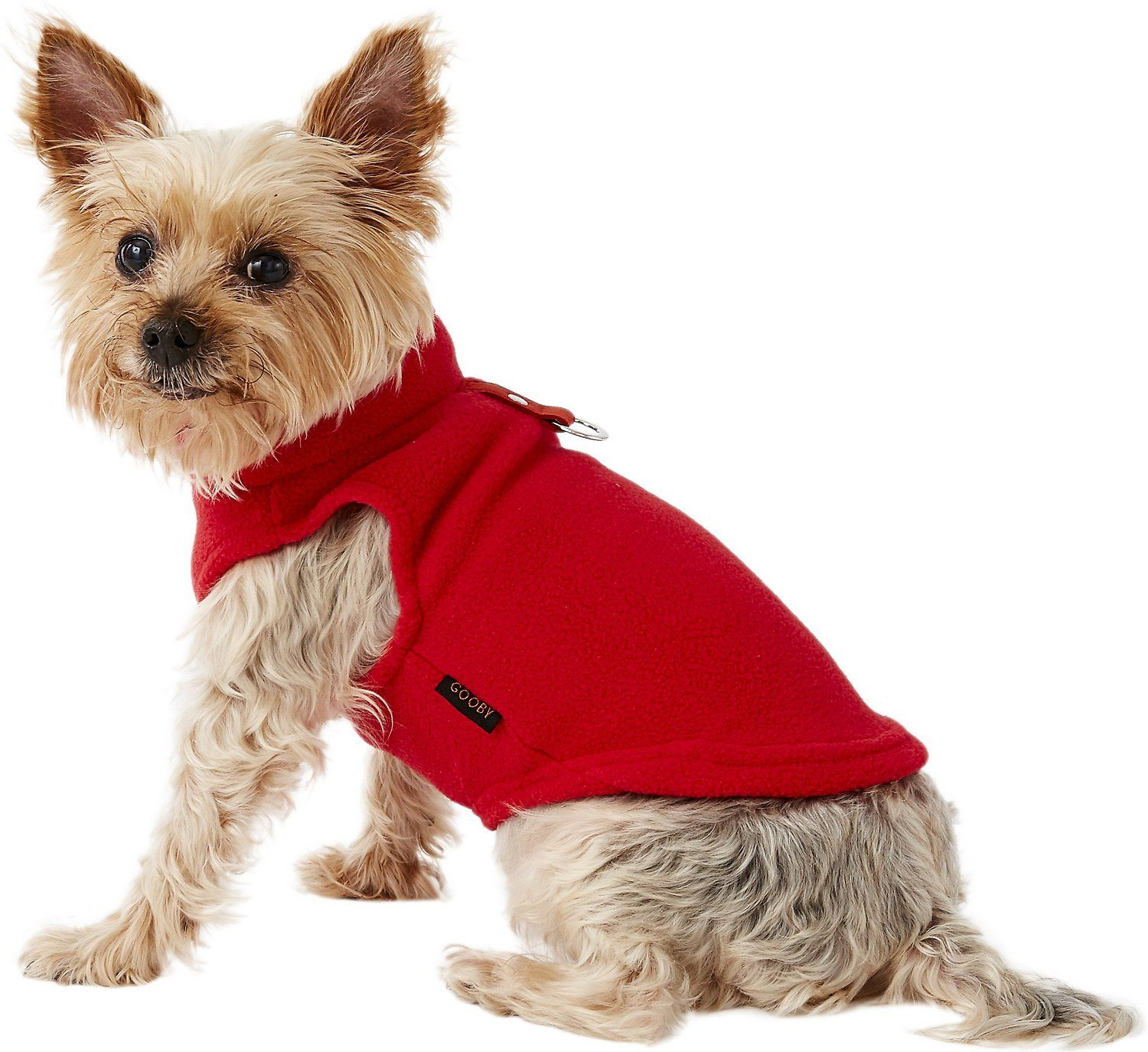 Gooby Fleece Dog & Cat Vest, Red, Small Dog
