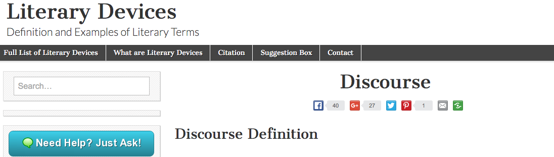 Discourse Examples And Definition Of Discourse