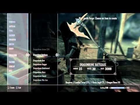 Skyrim Dawnguard How To Get Dragonbone Weapons Skyrim