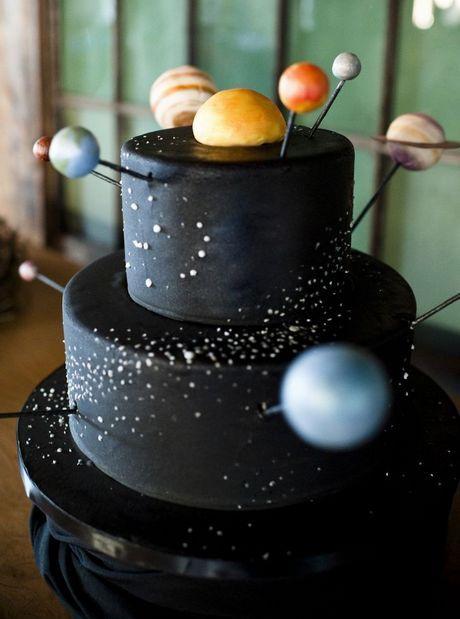 태양계 2단 케이크