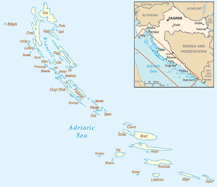 A Majority Of The Adriatic Sea Islands Are Located In The