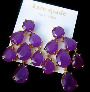Kate Spade NY Ridiculously Gorgeous Luminous Purple Hue Chandelier Drop Earrings | eBay