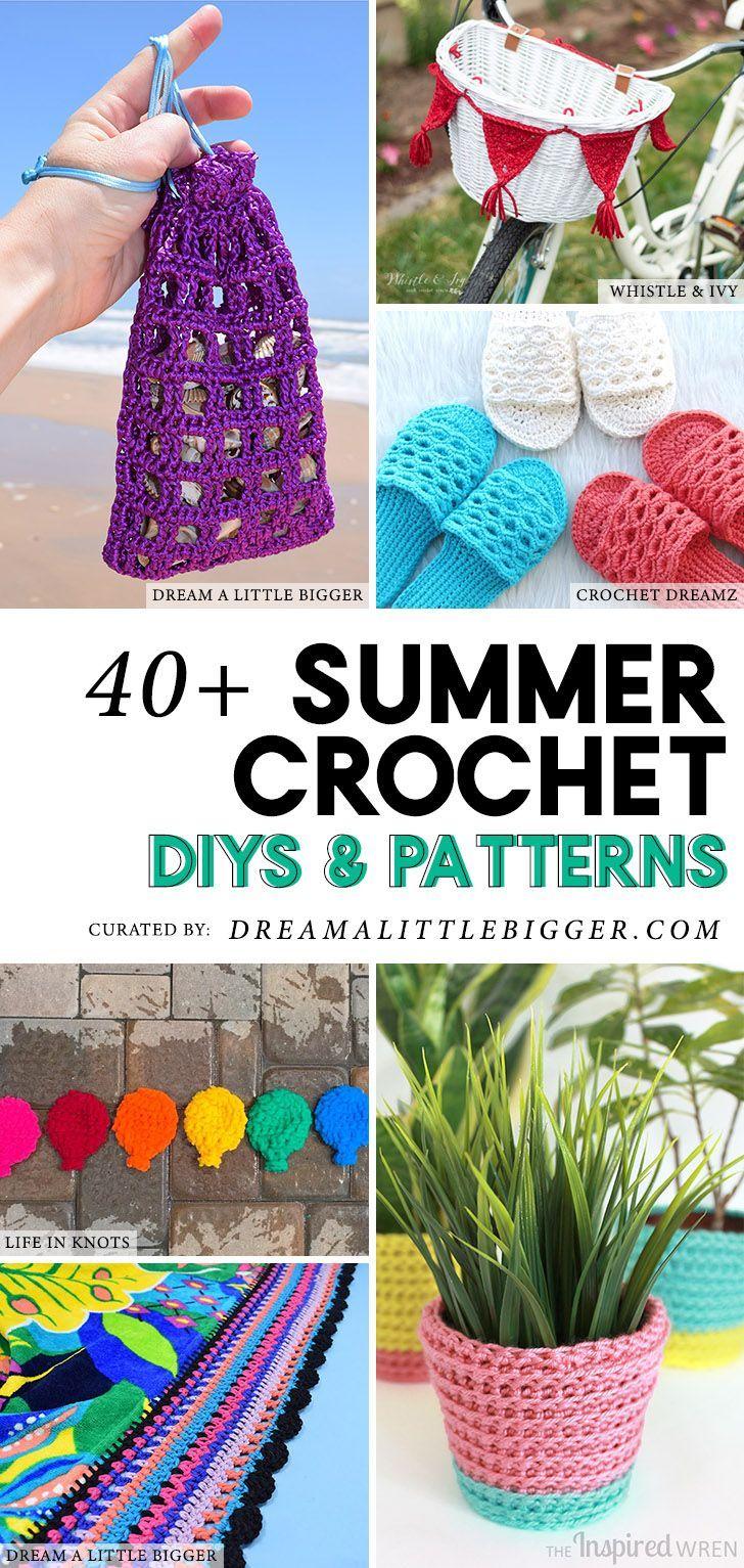 40+ Summer Crochet Projects | DIY Home Crafts | Pinterest | Puntos