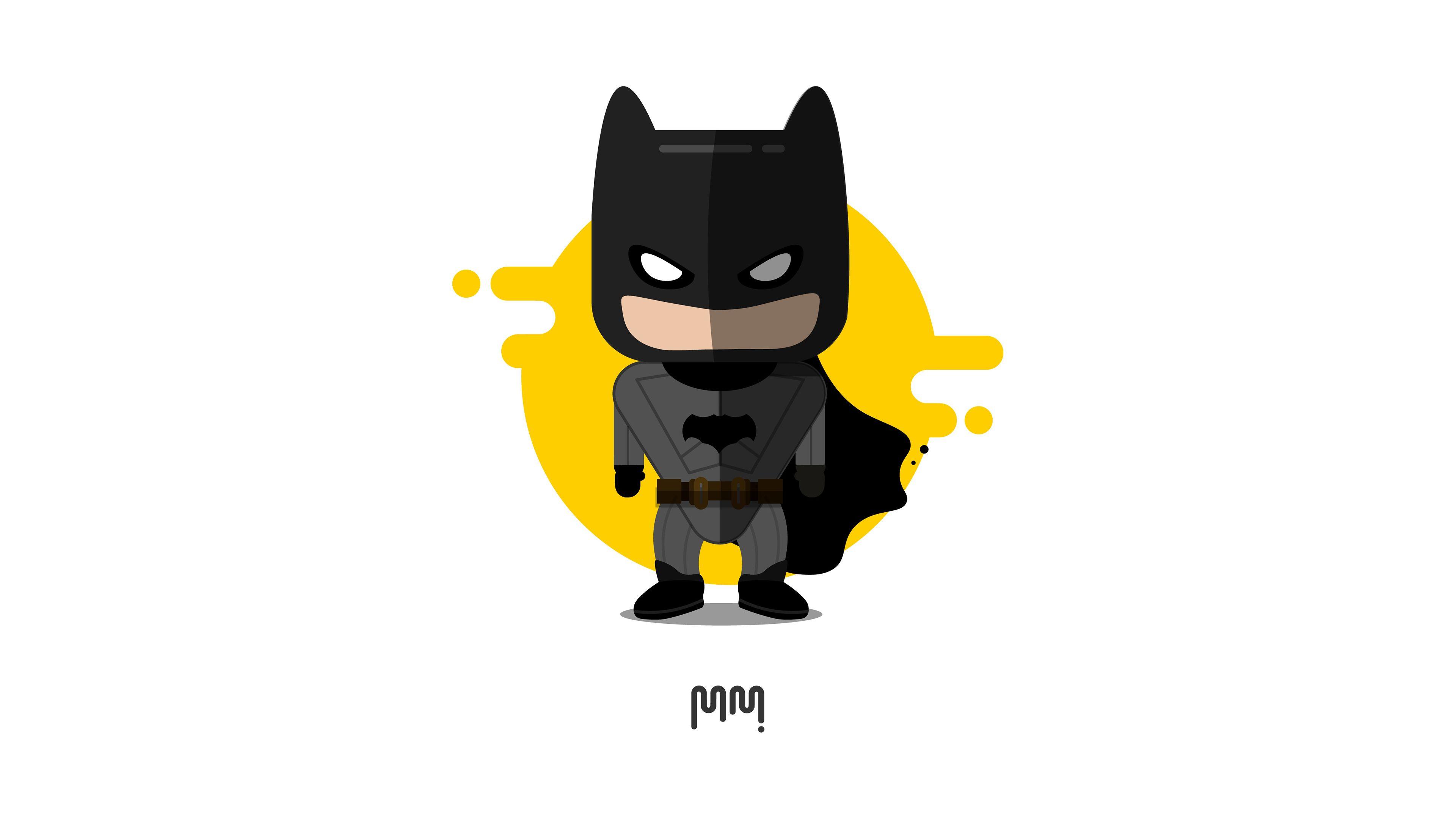 Cute Little Batman Minimalism 4k Superheroes Wallpapers Hd Wallpapers Digital Art Wallpapers Behance Wallpapers Batman Wallpaper Cute Batman Art Wallpaper